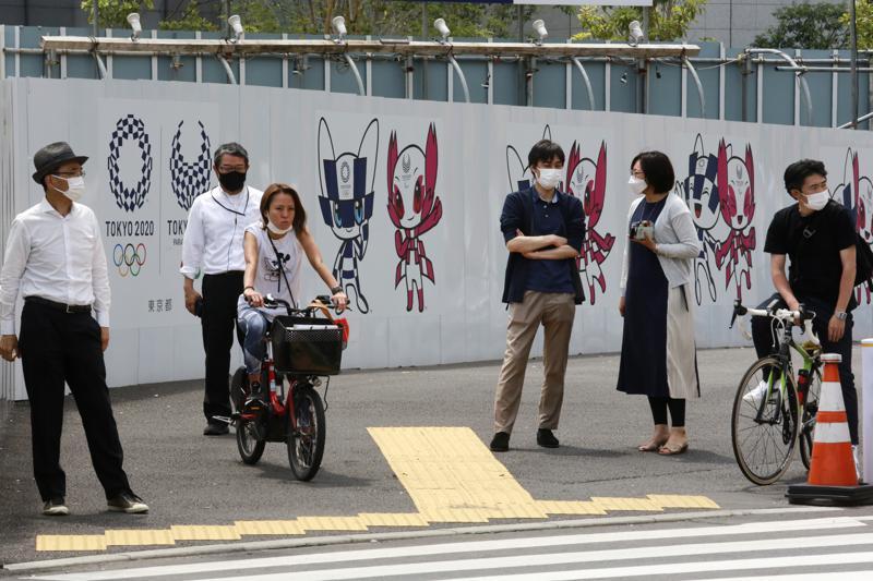 Nhật Bản chuẩn bị tổ chức Olympic Tokyo tháng 7 tới trong bối cảnh COVID-19 tiếp tục gia tăng mạnh ở nước này - Ảnh: AP