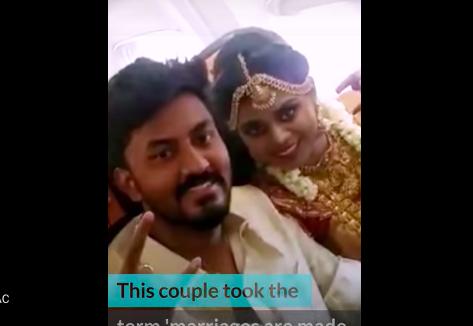Cặp đôi đã thuê máy bay tổ chức đám cưới trên không