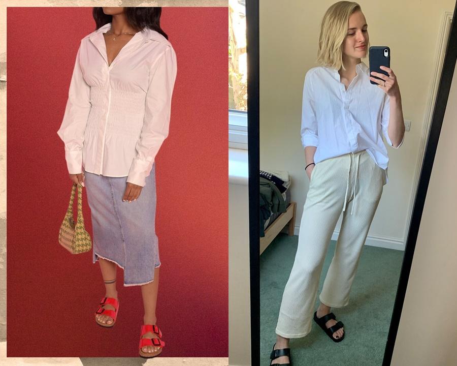 Ngoài ra, bạn có thể chọn diện đôi dép đế trấu theo nhiều phong cách và hoàn cảnh khác nhau. Nếu muốn đến văn phòng thì chọn ngay áo sơ mi kết hợp với quần dài hoặc chân váy quá gối.