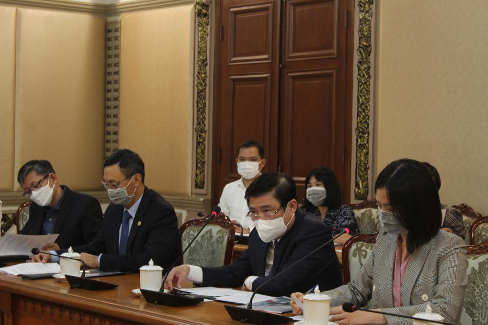 Chủ tịch UBND TPHCM Nguyễn Thành Phong đề nghị ASU bàn bạc nội dung hợp tác cụ thể cùng Sở Giáo dục - Đào tạo và Sở Ngoại vụ TPHCM.