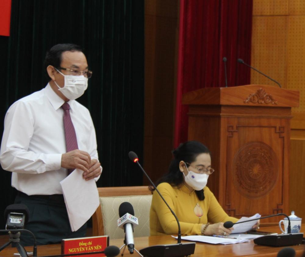 Bí thư Thành ủy TPHCM Nguyễn Văn Nên nêu khát vọng xây dựng TPHCM ngày càng phát triển, góp phần xây dựng đất nước cường thịnh như tâm nguyện của Chủ tịch Hồ Chí Minh.