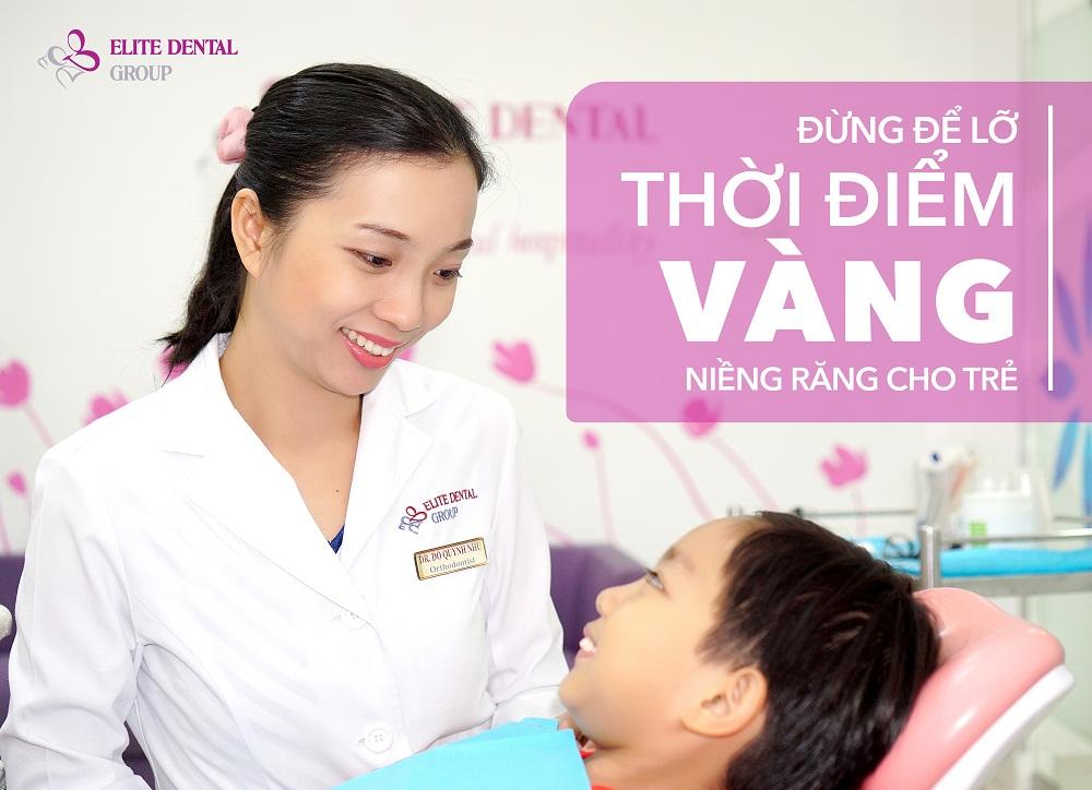 """Bác sĩ Đỗ Quỳnh Như - Ủy viên Ban chấp hành Hội Chỉnh hình răng mặt TPHCM, bác sĩ chỉnh hình răng mặt Nha khoa Elite nhấn mạnh: """"Sự phát triển xương hàm, thay răng của trẻ diễn ra mạnh mẽ trong giai đoạn 6-12 tuổi, lúc này rất thuận lợi để nới rộng, nắn chỉnh xương, sắp xếp các răng về đúng vị trí"""". Ảnh: Elite Dental"""