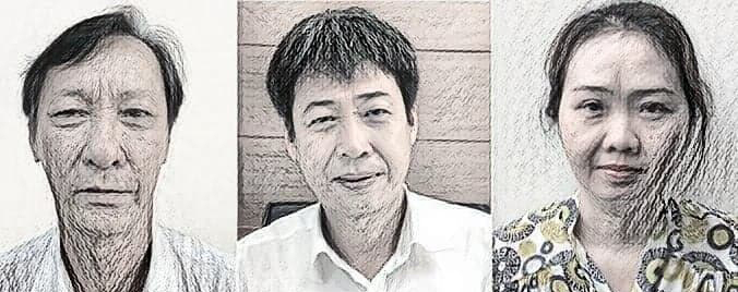 Ba bị can bị khởi tố - Ảnh: CACC