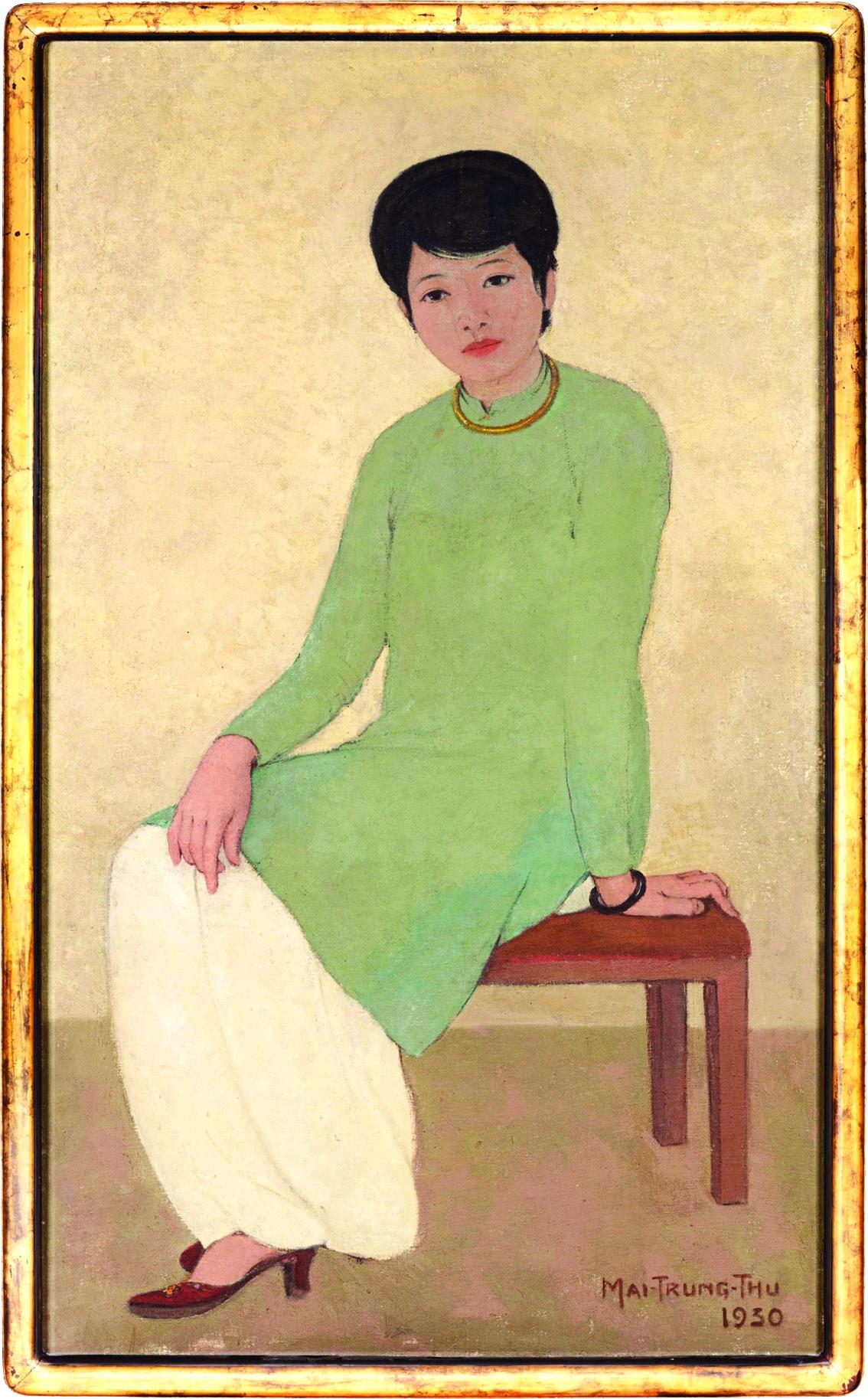 Bức Chân dung cô Phương của họa sĩ Mai Trung Thứ đang giữ kỷ lục về giá tranh Việt trên sàn quốc tế