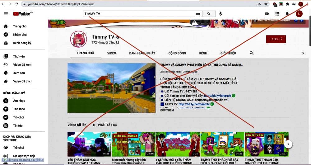 Ngày 27/5, Sở Thông tin và Truyền thông TPHCM đã xử phạt kênh Youtube Timmy TV 15 triệu đồng