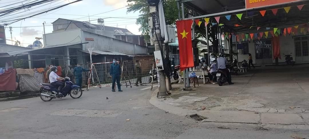 Phong tỏa một số con đường ở phường Đông Hòa