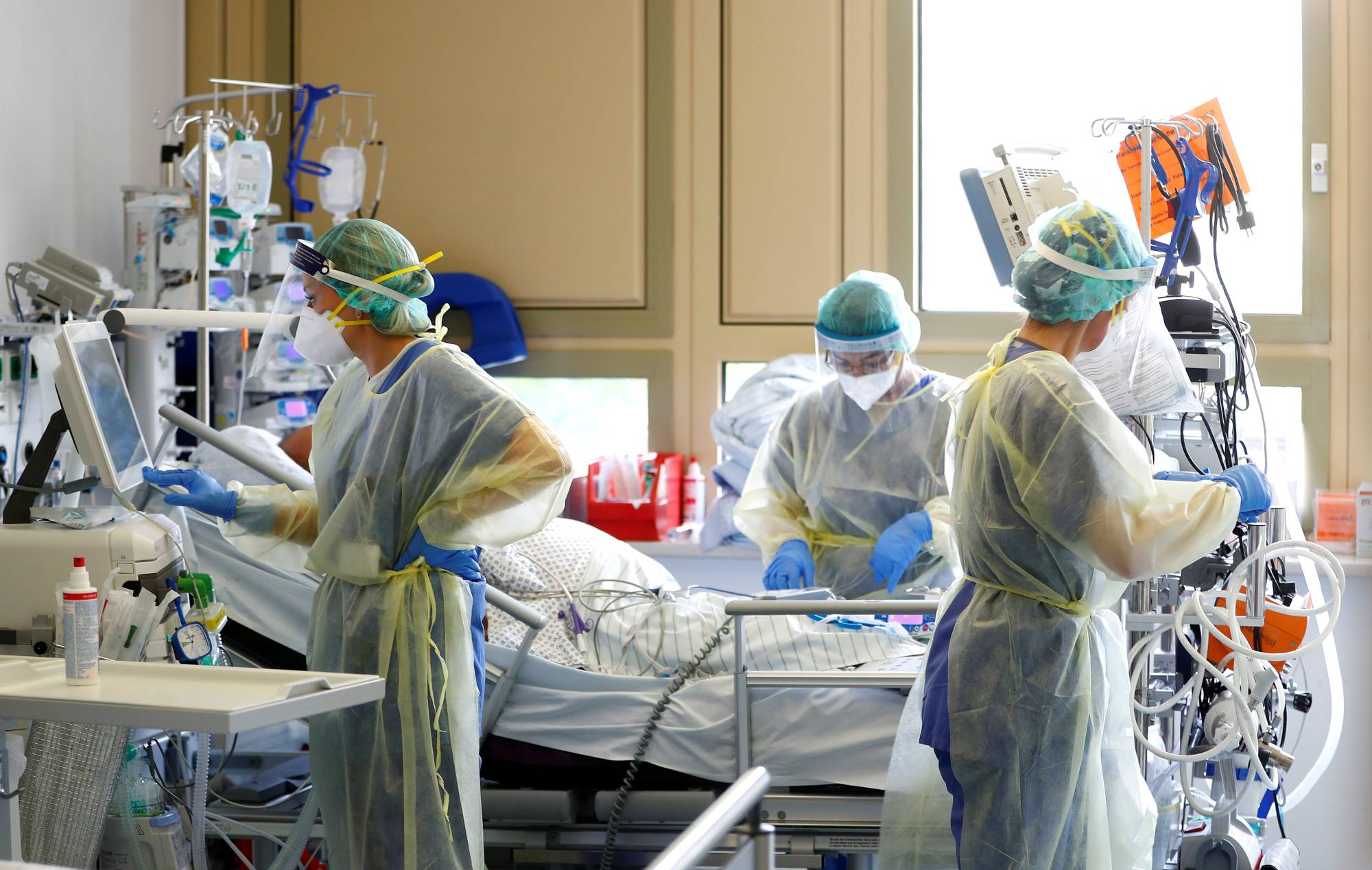 Bệnh nhân mắc COVID-19 đang được điều trị