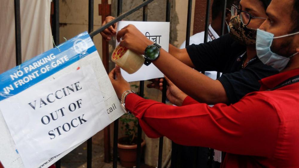 Nguồn cung cấp vắc-xin ở Ấn Độ đã cạn kiệt - Ảnh: Getty Images