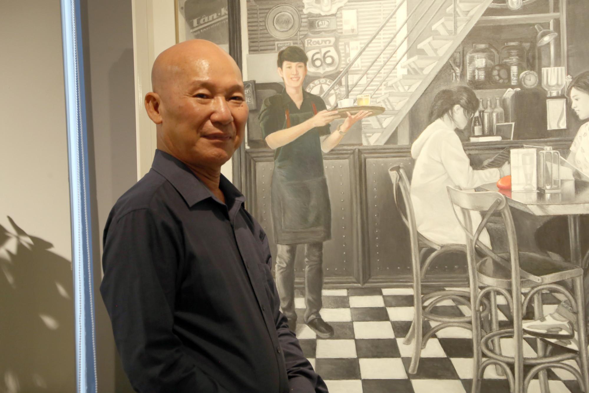 Hoạ sĩ Ngô Đồng tại không gian Ngõ Art Gallery
