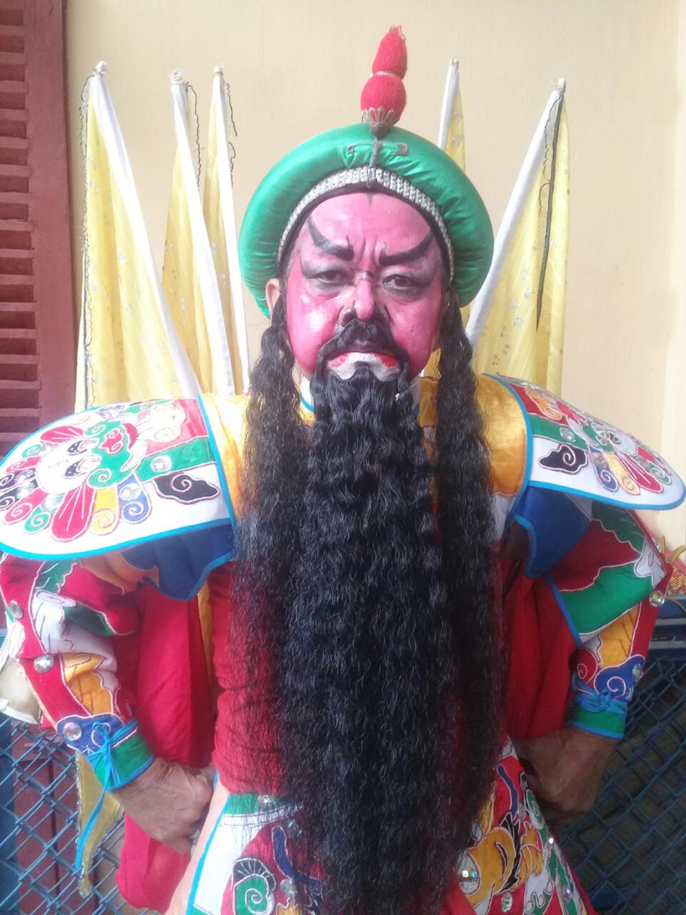 Nghệ sĩ Thanh Hiệp trong vai Cao Hoài Đức, vở Lưu Kim Đính giải giá thọ châu
