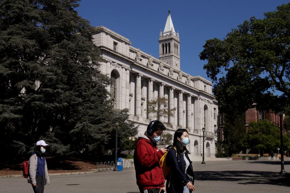 Khuôn viên Đại học California ở Berkeley, California, trong những ngày đại dịch - Ảnh: AP