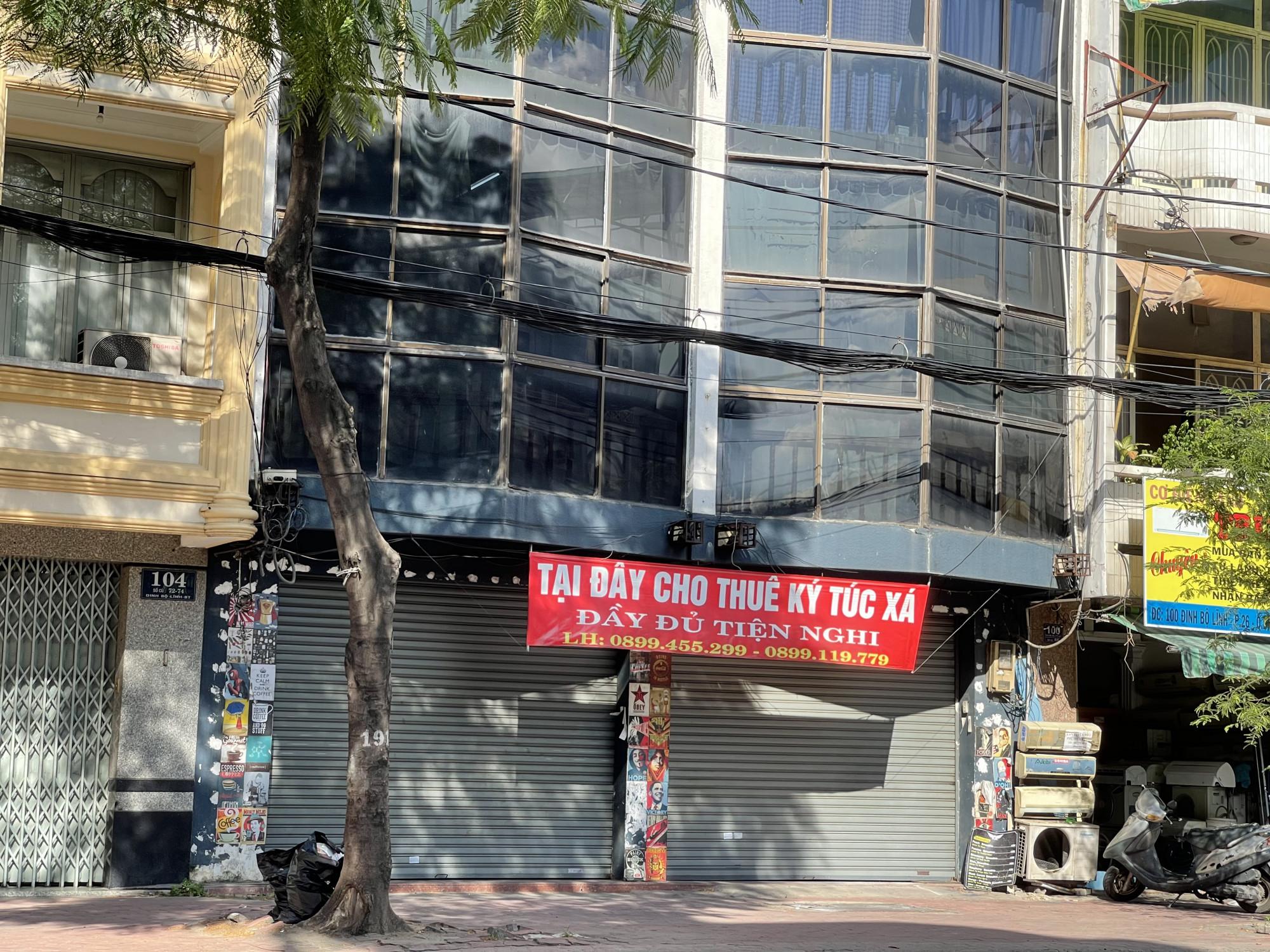 Một tòa nhà văn phòng cho thuê trên đường Đinh Bộ Lĩnh, quận Bình Thạnh chuyển sang cho thuê ký túc xá