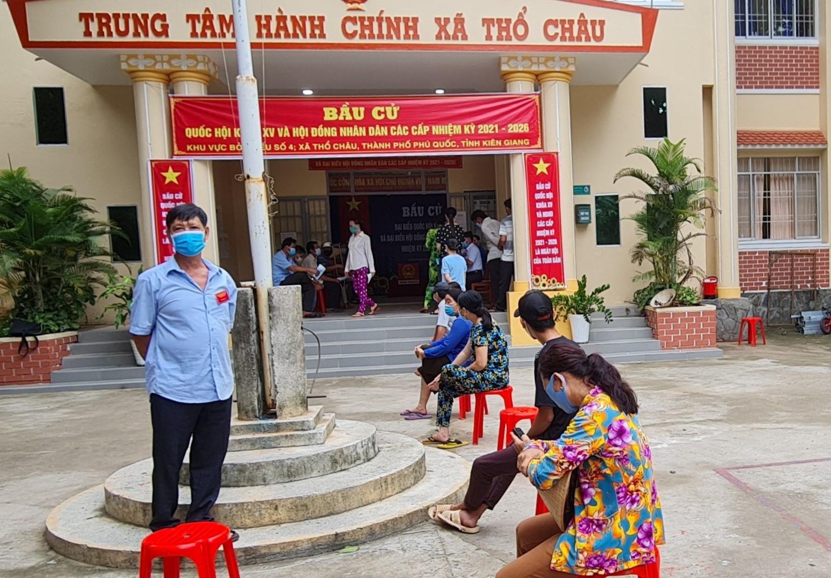 Một điểm bầu cử tại tỉnh Kiên Giang