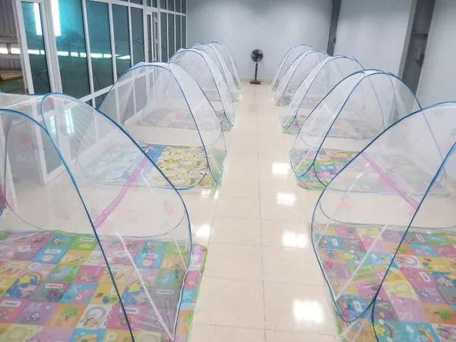 Công ty TNHH Vạn Lợi (KCN Đông Thọ, huyện Yên Phong) gấp rút sắp xếp chỗ ở cho công nhân làm việc tại nhà máy.