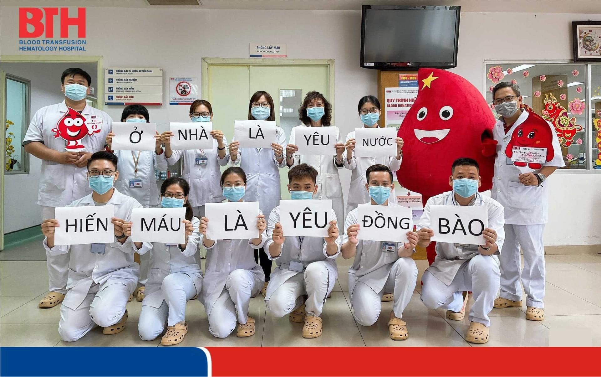 Bệnh viện Truyền máu huyế học TPHCM đang tích cực kêu gọi người dân hiến máu cứu người, ảnh BVCC