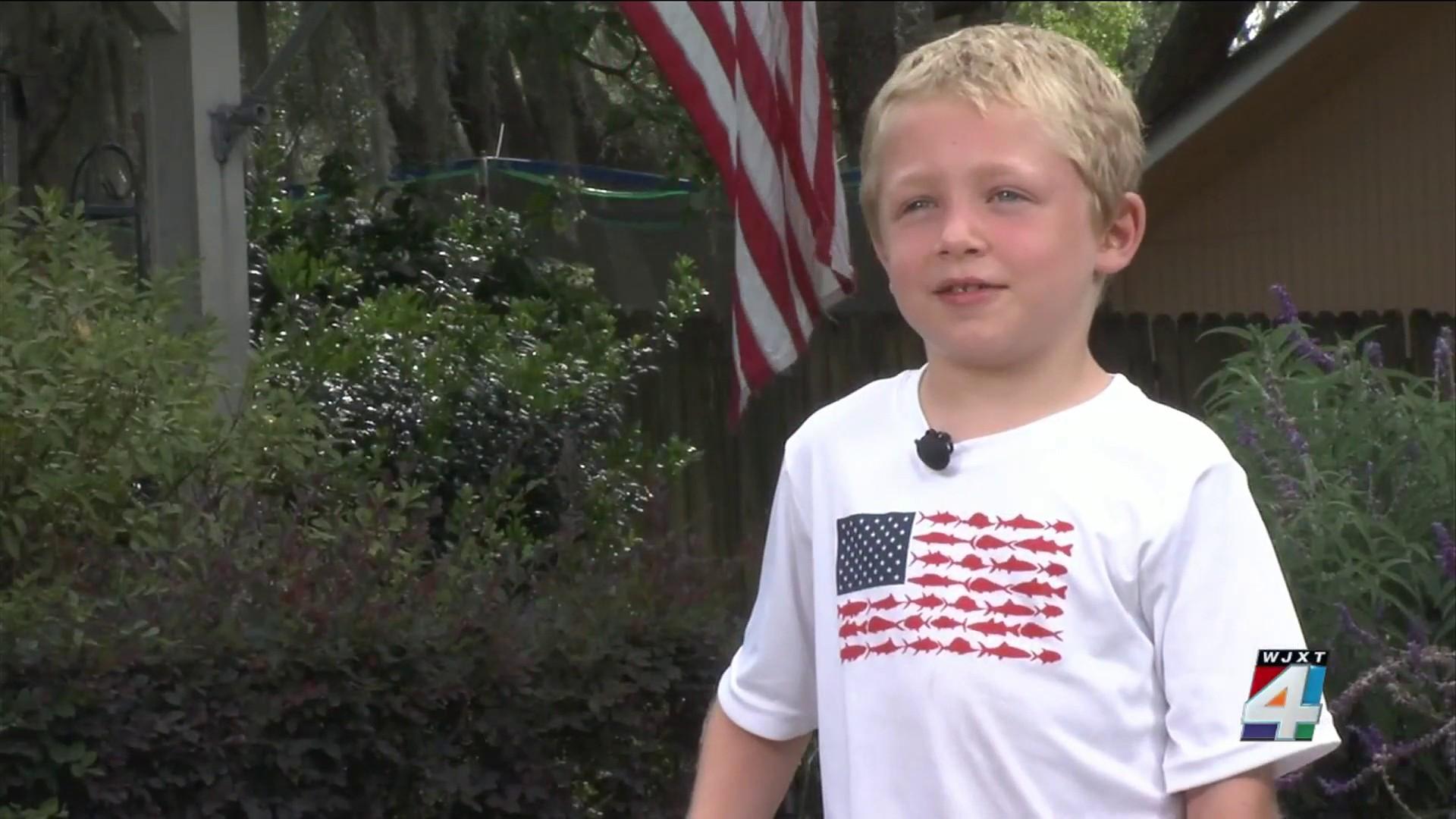 Cậu bé Chase 7 tuổi đã cứu sống được bố và em gái mình khỏi chết đuối - Ảnh: News4jax