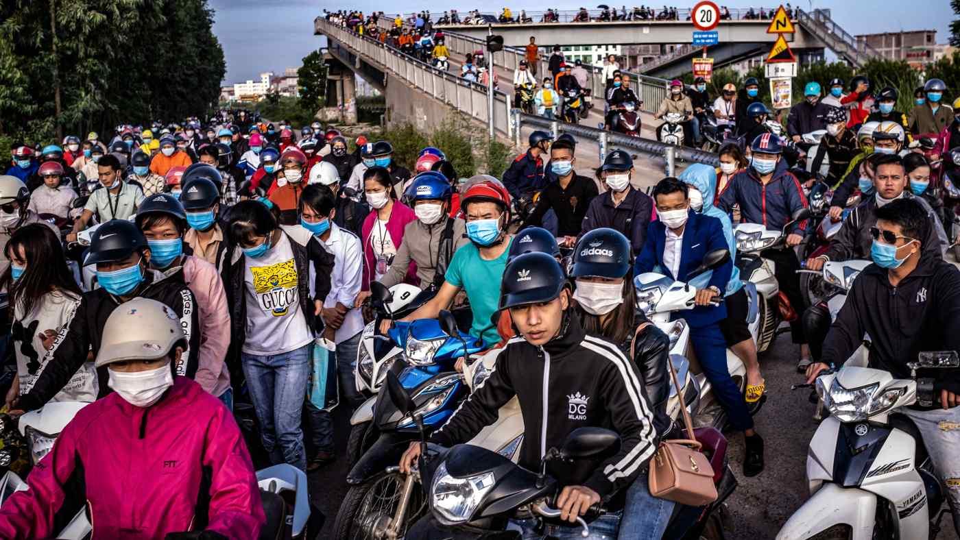 Hình ảnh trước một khu công nghiệp ở Bắc Giang. (Ảnh: Getty Images)