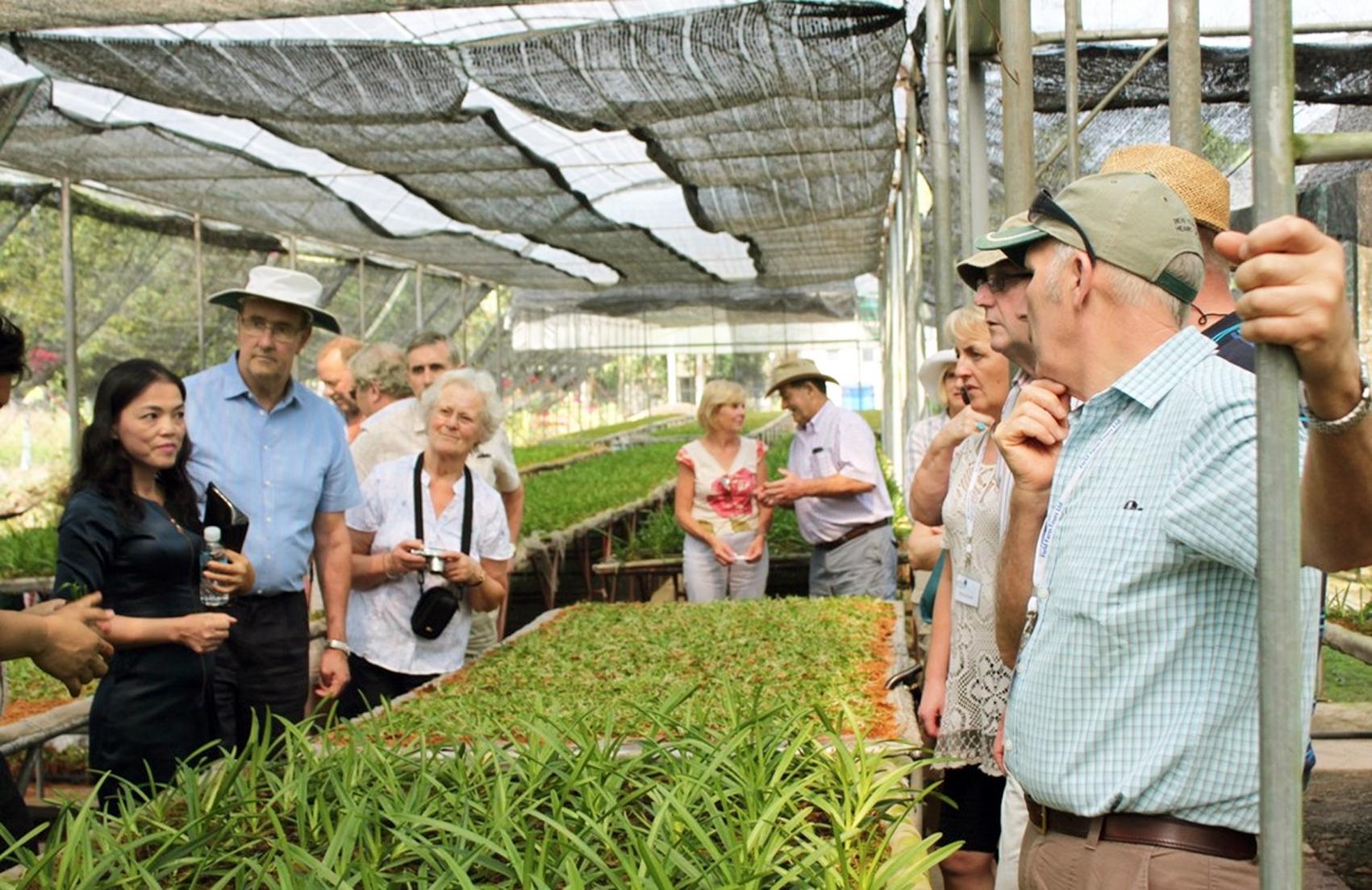 Khách tham quan Khu Nông nghiệp Công nghệ cao TP.HCM - Ảnh: Khu Nông nghiệp Công nghệ cao TP.HCM