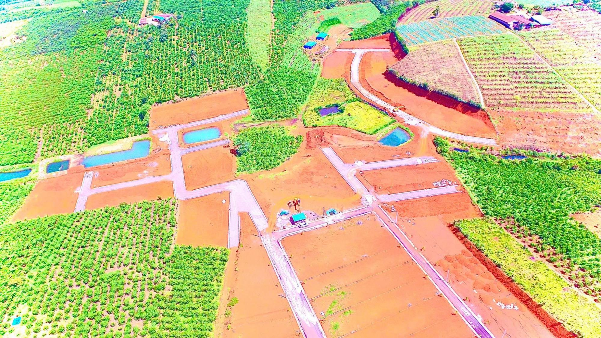 Một khu đất gắn mác dự án bất động sản rao bán tại TP.Bảo Lộc