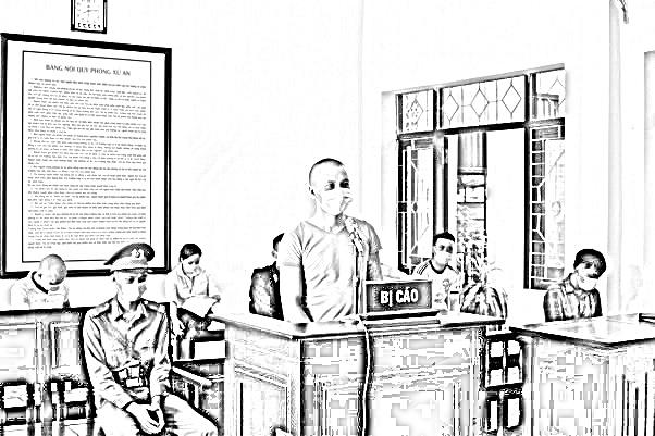 Lương Văn Tiến tại tòa
