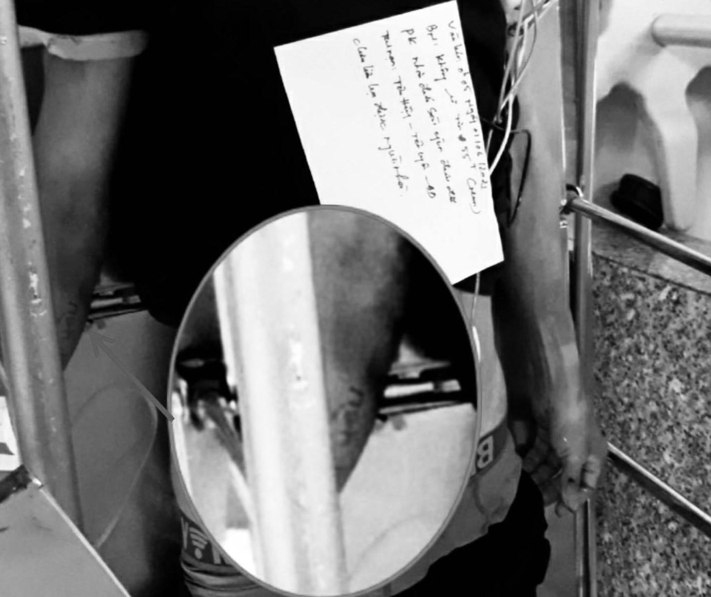 Trên tay nạn nhân có xăm chữ 'Vợ yêu'đúng với thông tin mà người thân cung cấp
