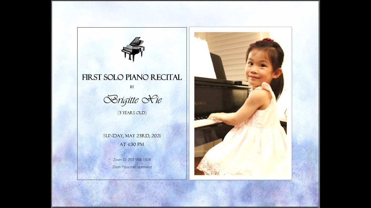 Tài năng piano nhí 3 tuổi Brigitte Xie - Ảnh: Nicole Sun