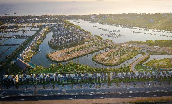 Khu đô thị Đồng Nà nằm tại phường Cẩm Hà, TP. Hội An (Quảng Nam) với diện tích 6,4ha.