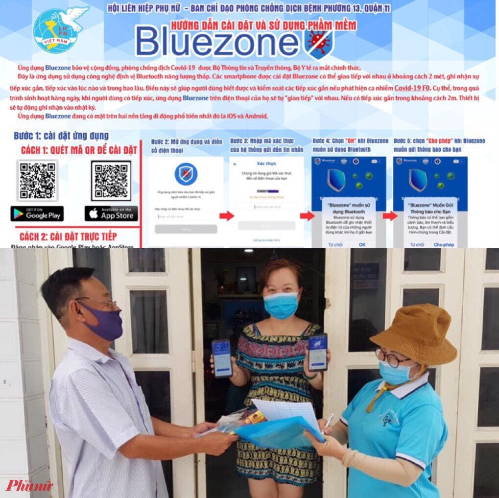 - Phụ nữ quận 11 hướng dẫn người dân cai ung dung Bluzone