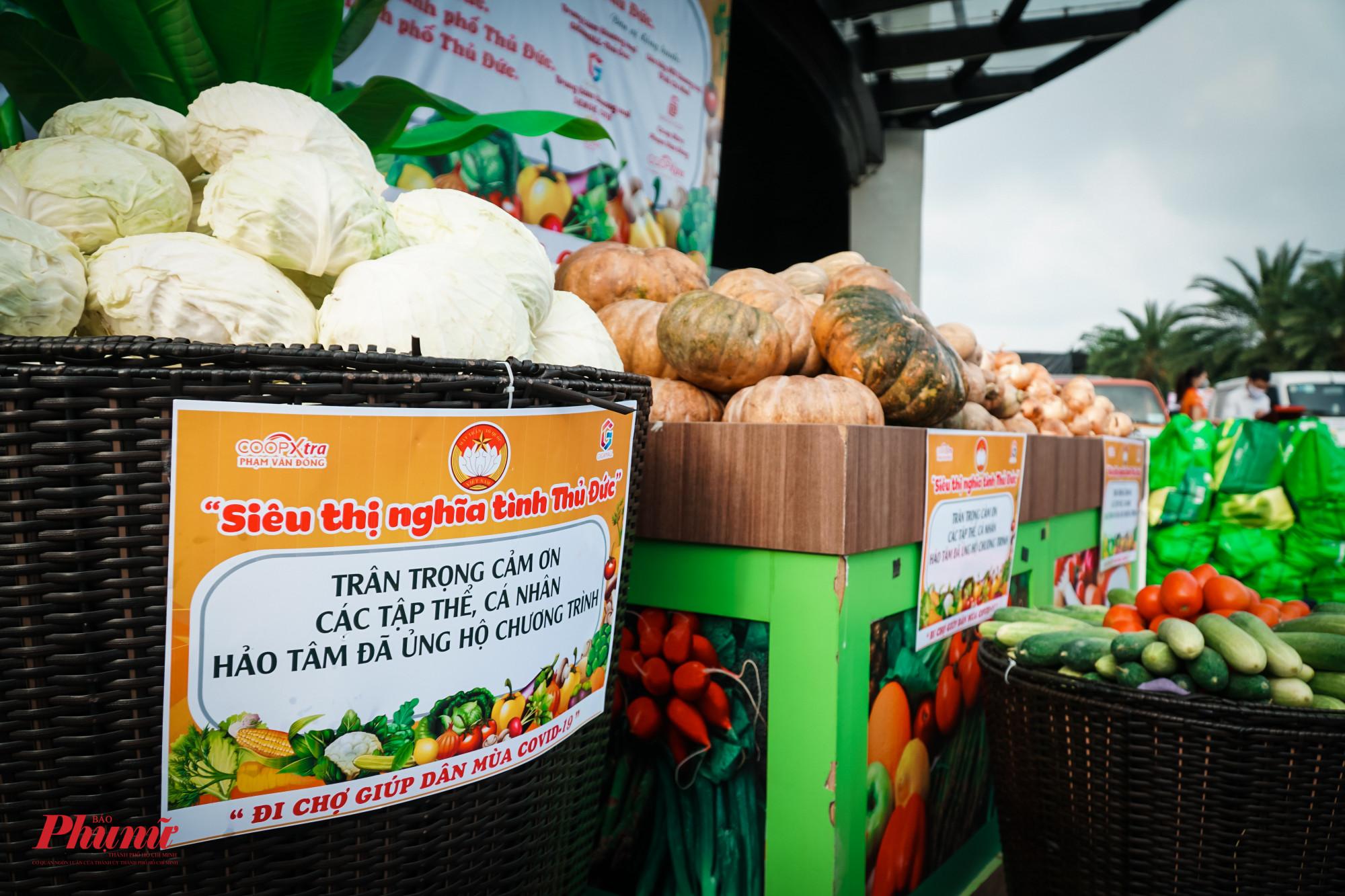 Những rau, củ quả thông dụng được ưu tiên cung cấp cho người dân
