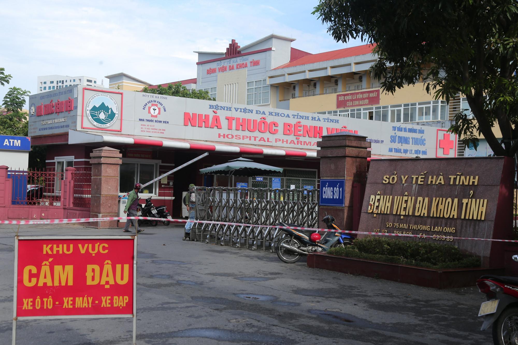 Bệnh viện đa khoa Hà Tĩnh bị phong tỏa sau khi phát hiện một cán bộ mắc COVID-19