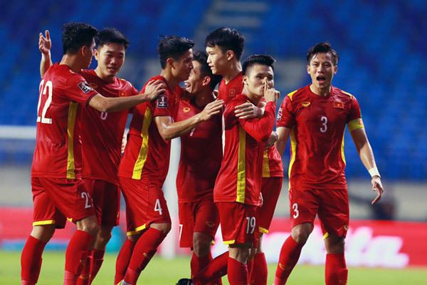 Các cầu thủ Việt Nam trong trận thắng Indonesia 4-0 tối 7/6. Ảnh: internet
