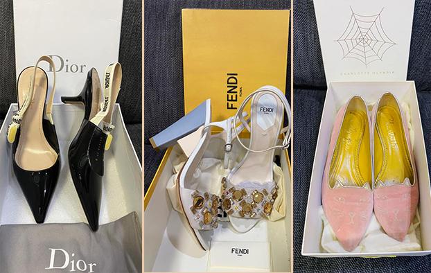 Bên cạnh Valetino, người đẹp còn chuộng giày từ nhiều hãng khác.