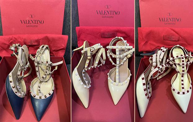 Ngoài túi, Á hậu Trúc Diễm cũng thanh lý một số đôi giày mà cô từng cất công sưu tập.