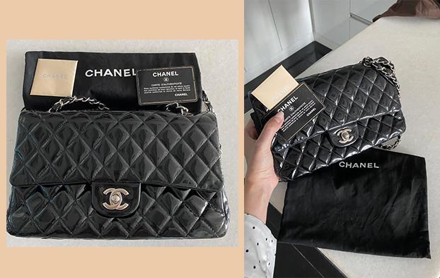 Chanel Classic Flap Bag - size 26cm . Kèm thẻ chính hãng , dust bag . Da bóng dễ bảo quản lau chùi . Quai thép bạc . 90% new. 60tr