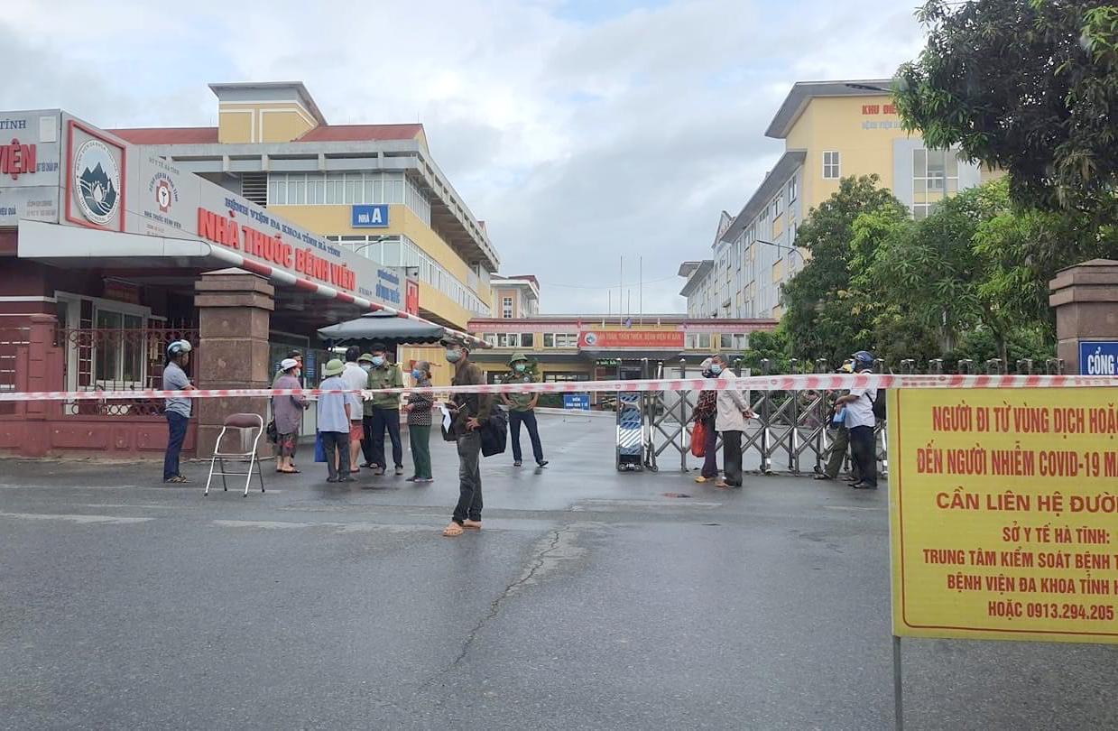 Phong tỏa Bệnh viện đa khoa Hà Tĩnh