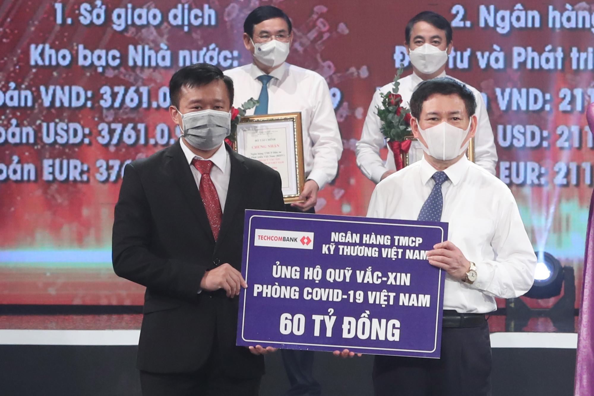 Ngân hàng Kỹ Thương Việt Nam (Techcombank) ủng hộ 60 tỷ đồng