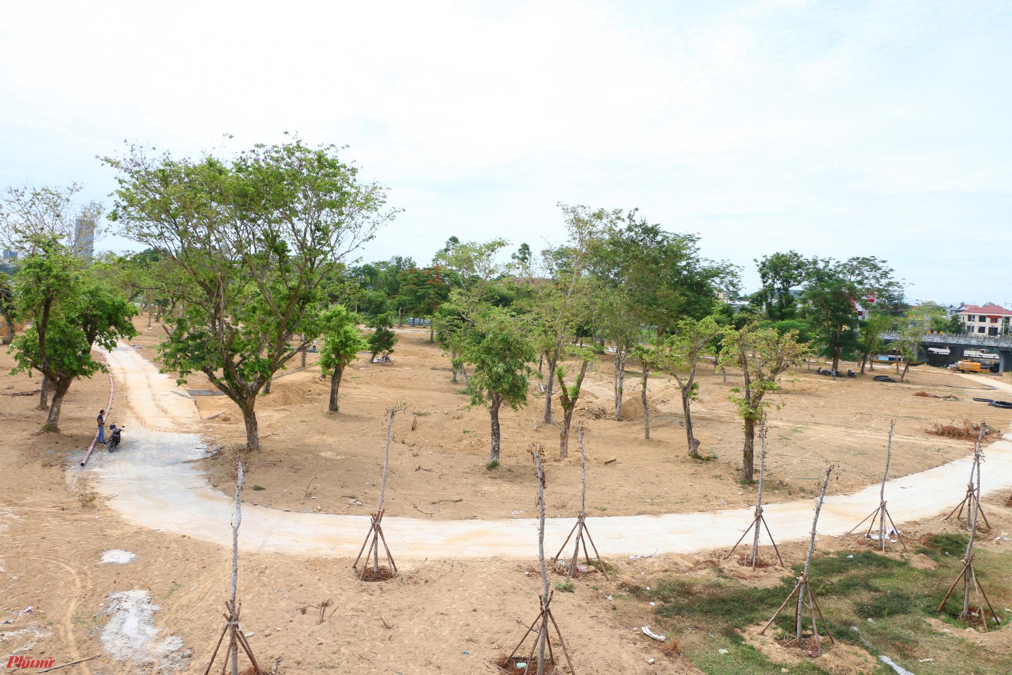 Dự án công viên đang được hình thành ở bờ đông cồn Dã Viên