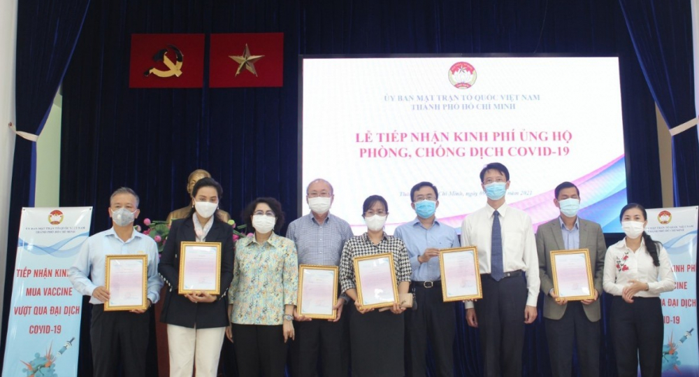 Quỹ phòng chống, dịch COVID-19 của TPHCM và trung ương nhận được sự đóng góp của nhiều doanh nghiệp đang hoạt động tại TP.