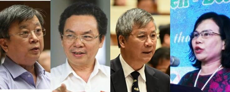 Từ trái qua phải: ông Trương Trọng Nghĩa, ông Hoàng Văn Cường, ông Nguyễn Anh Trí và bà