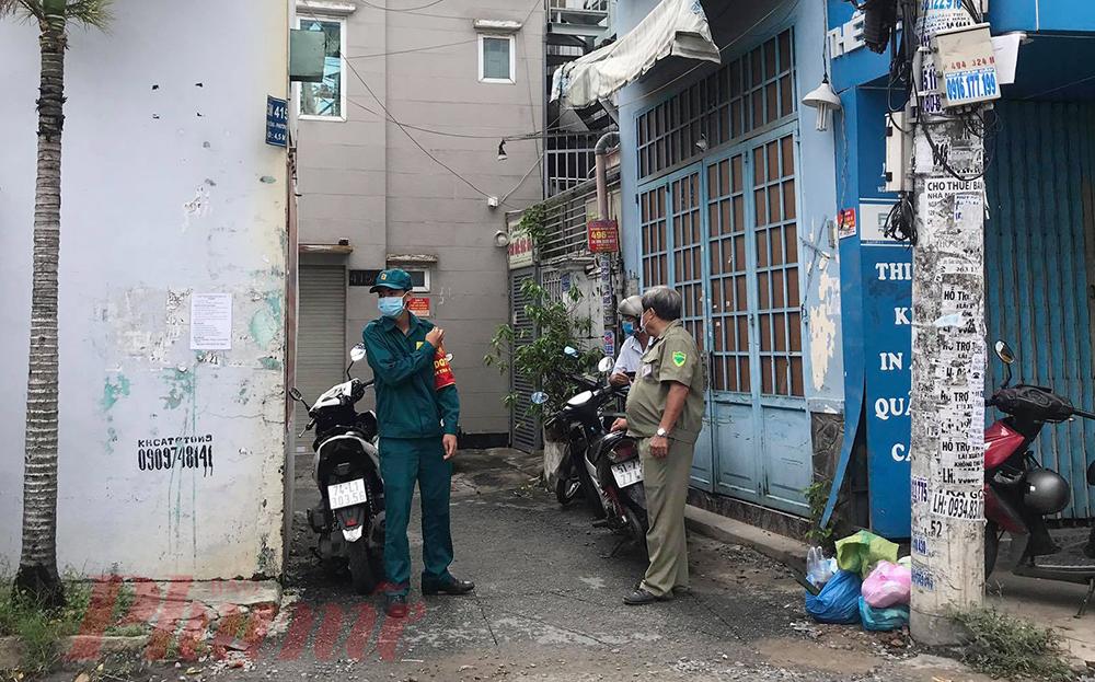 Khu vực hẻm 415 Nguyễn Văn Công, phường 3, quận Gò Vấp, nơi có ngôi nhà được sử dụng làm địa điểm sinh hoạt của giáo phái Hội thánh Truyền giáo Phục hưng