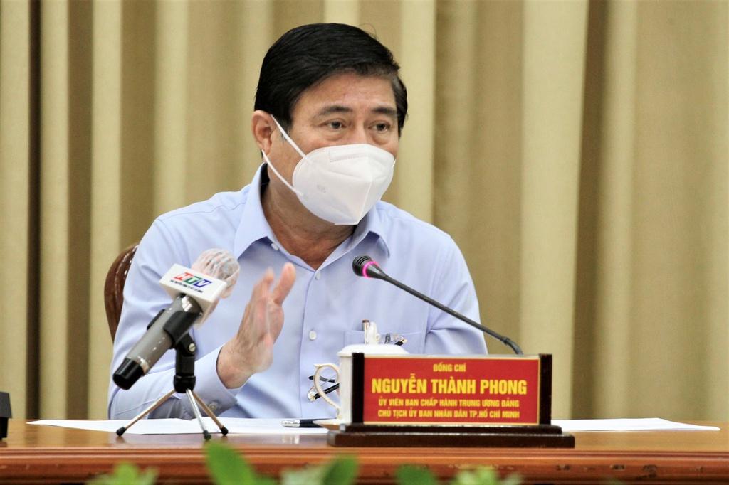 Chủ tịch UBND TPHCM Nguyễn Thành Phong chủ trì hội nghị sáng 10/6