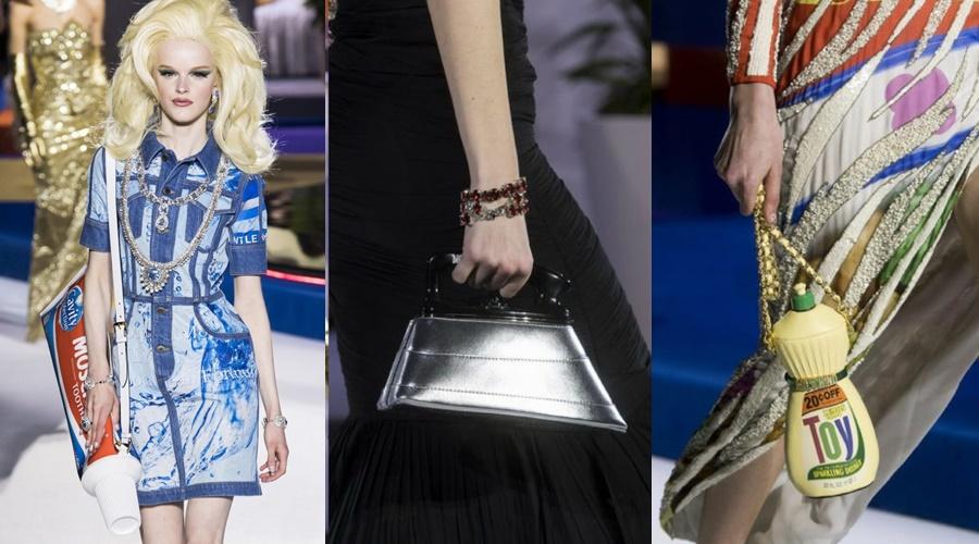 Moschino cũng từng gây xôn xao khi cho ra mắt những mẫu túi xách lạ lùng hết sức.