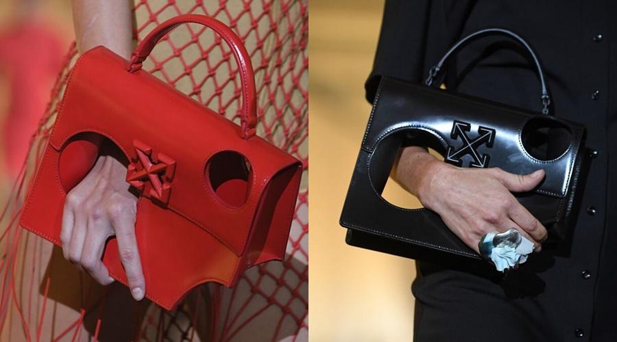 Thương hiệu Off - White từng trình làng kiểu túi có tên là Meteor (sao băng). Chiếc túi có thiết kế đục hai lỗ khổng lồ trên thân và một phần khuyết ở góc dưới cùng và điều quan trọng là không thể đựng được món đồ nào hết mà có giá tận 1.665 USD ( tầm 38 triệu đồng