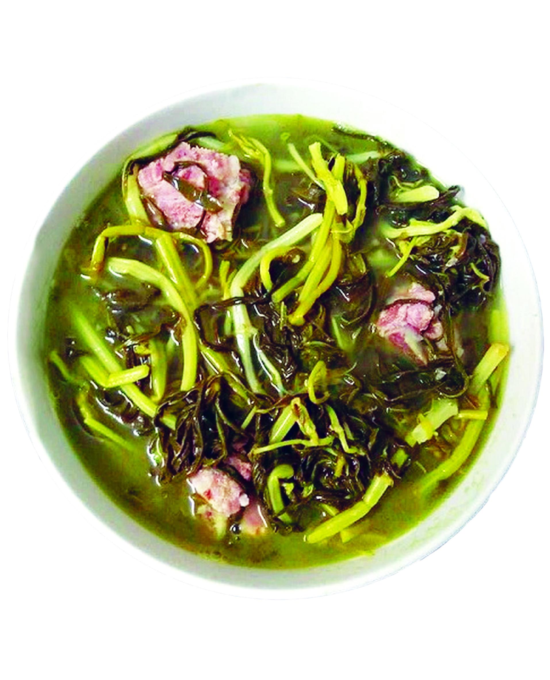 Canh rau sắn - đặc sản Phú Thọ