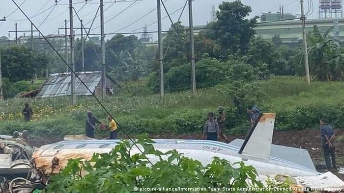 Chiếc máy bay rơi trong quá trình hạ cánh xuống xuống thành phố Pyin Oo Lwin