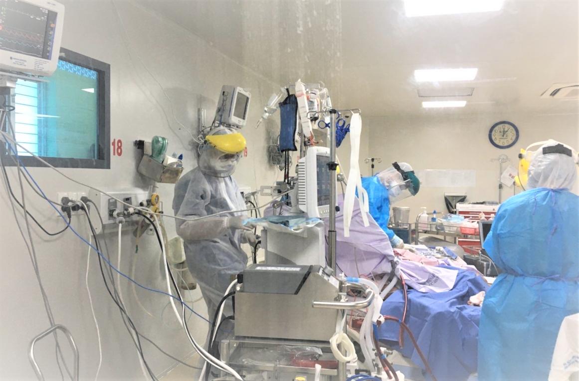 Bệnh nhân 2.983 ở An Giang đang dần hồi phục, đã cai được hệ thống ECMO