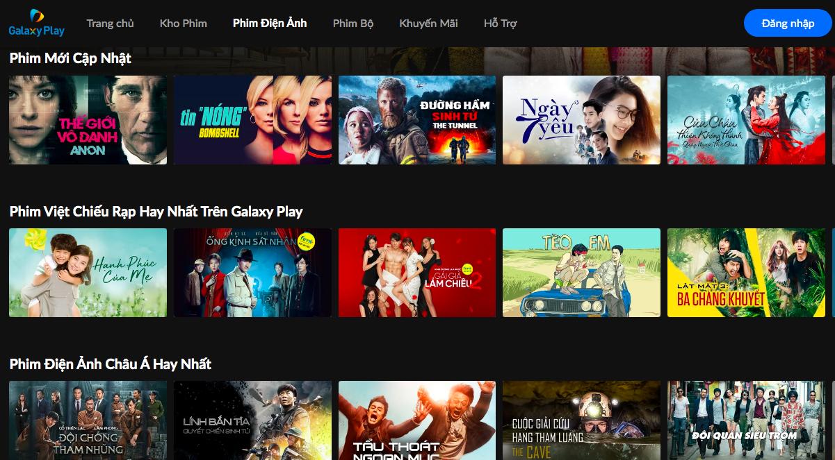 Galaxy Play liên tục ra mắt các series sản xuất độc quyền.