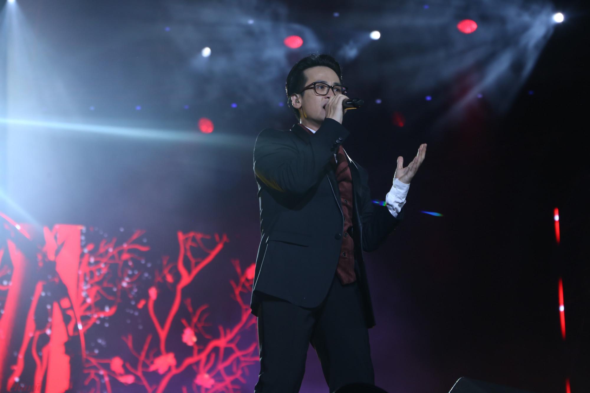 Hà Anh Tuấn trong tại sự kiện âm nhạc mới đây của ca sĩ Mỹ Tâm.