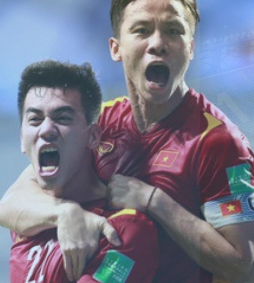 Tiến Linh và Quế Ngọc Hải là những cầu thủ đem về chiến thắng của Việt Nam trước Malaysia. Ảnh VFF