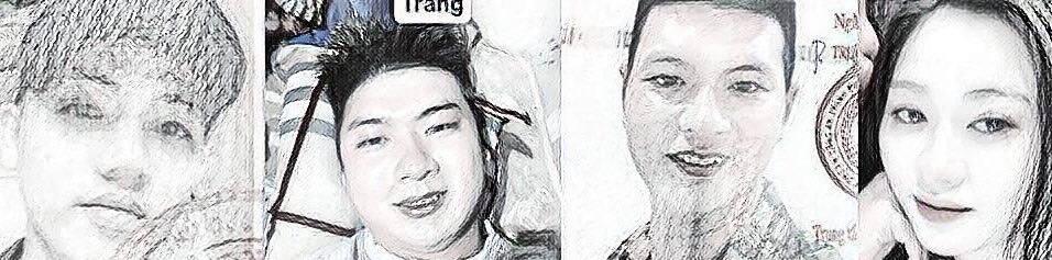 Nhóm đối tượng gồm: Nhàn - Quang - Hải - Lan Phương (từ trái qua phải)